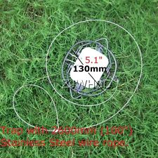 """Mouse Rat Rodent Steel Spring Snare Trap Pest Control &100"""" Stainless Steel Wire"""