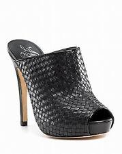 Alejandro Ingelmo NIB $525 Carmen Woven Leather   Platform Clogs   41