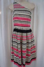 London Times Dress Sz 6 Natural Pink One Shoulder Career Casual Sheath Dress