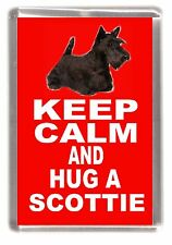 "Scottish Terrier Dog Fridge Magnet ""KEEP CALM AND HUG A SCOTTIE"" by Starprint"