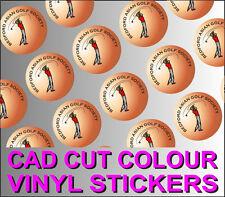 CUSTOM PRINTED COLOUR VINYL STICKERS - CAD CUT ROUND / SQUARE