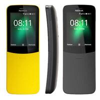 New Nokia 8110 Dual Sim 4GB 512MB RAM 4G LTE Banana Phone Unlocked Curved Mobile