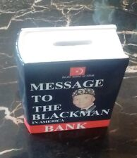 Message To The Blackman Souvenir Coin Bank