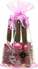 Head Jog 5 Piece Oval Bag Pink Brush Set