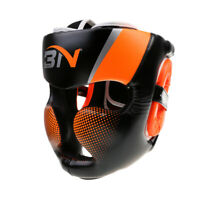 Detachable Bar Headgear Boxing Helmet Martial Arts Gear MMA Protector,Orange