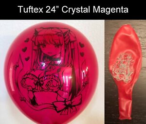 """[AX-08] Cute Anime Girl Printed Looner Balloons in Tuftex 24"""" Multi-color"""