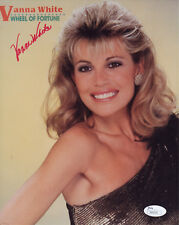 "VANNA WHITE ICONIC ""WHEEL OF FORTUNE"" HOSTESS SIGNED OFFICIAL PHOTO JSA"