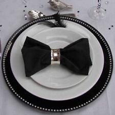 Set Of 8 Black Radiant Diamante Decorative Charger Dinner Table Under Plates Set
