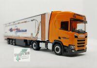 +++ Herpa 311144 Scania CR HD Gardinenplanen SZ - Steinkühler 1:87 Auflieger +++