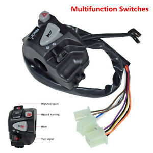 Multifunction Motorcycle Handlebar Control Switches With Wiring Harness For MSX