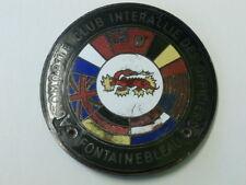 Automobile Club Interallie des Officers Fontainbleau Car Badge by Chobillon.