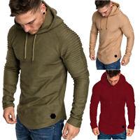 Herren Übergröße Langarm Hoodie Kapuzenpullover Kapuze Sweatshirt Pulli Sweater
