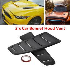 2Pcs ABS Plastic Car Air Flow Intake Scoop Bonnet Vent Hood Cover Accessories