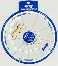 Kreg Screw Selector Wheel Face Edge Thickness Length Jigsetting Woodworking