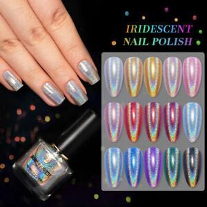 BORN PRETTY Iridescent Nail Polish Iridescent Shining Gold Silver Blue Varnish