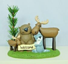 Cute Forest Friends WELCOME figurine - New by Blossom Bucket #87301
