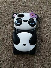Iphone 5 cover case panda with flower