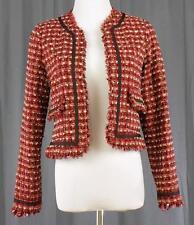 TRUE MEANING~Sz 4~Short Red Jacket Blazer~Lined