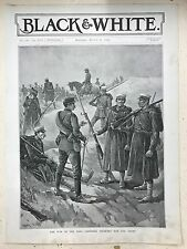 The War In The East: Japanese Infantry: 1894 Black & White Magazine Print