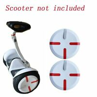 2PCS ABS Wheel Covers Hubs Caps for Xiaomi Ninebot MiniPro Segway Scooter White