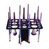 28 Holes Makeup Brush Holder Organizer Folding Collapsible Stand Tree Rack Dryer