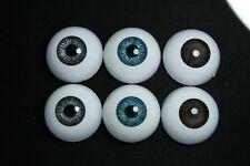 Ojos para muñeca 20 mm  3 pares reborn bjd ooak dollfie manualidades nancy