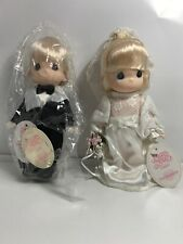 "Collectible 1998 Precious Moments Soft Dolls: 7"" Bride #1621 & Groom #1622 NEW"