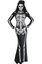 Sexy Womens Skeleton Adult Halloween Fancy Dress Costume