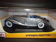 Maisto Mercedes Benz 500 K 1936 Grey 1/18