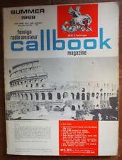 Radio Amateur CALLBOOK (Foreign DX) Summer 1968