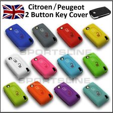 PEUGEOT / CITROEN 2 Button Key Cover Case Remote Flip Fob Protector Hull Car 1