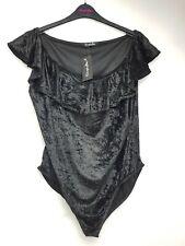 Simply Be Bardot black velvet body size 24