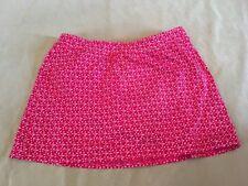 Lands End 8 Swimsuit Skirt Bottom Pink Pattern Womens Swim