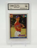 1991 Topps CHIPPER JONES #1 Draft Pick RC Card GMA 10 Gem MT #333 Atlanta Braves