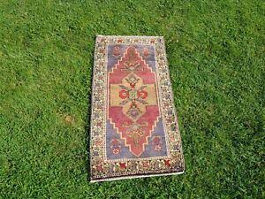 Berber Rug, Nomadic Rug, Small Size Rug, Rustic Rug, Vintage Turkish Rug, Distre