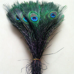 Wholesale 11 colors 10-100pcs Peacock feathers eye 10-12 inches / 25-30 cm
