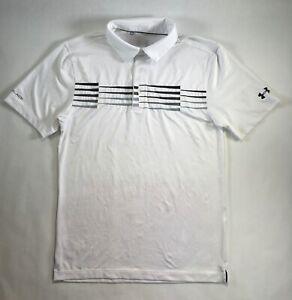 Mens Under Armour Polo Coldblack Ace Stripe Golf Shirt Top S M L XL 2XL DEFECT