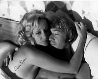 SYLVIA SYMS hand-signed YOUNG B/W 8x10 CLOSEUP IN BED authentic w/ UACC RD COA