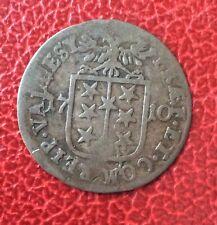 Suisse -  Valais / Wallis - Eveché de Sitten  - 1 Batzen  1710