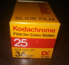 Kodak Kodachrome 25 KM 35mm Color Slide Film 36 Exposure - Vintage