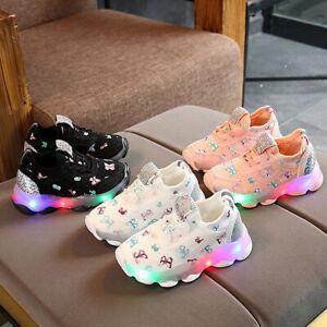 Fashion Girls Light-up LED Sports Shoes Breathable and Luminous