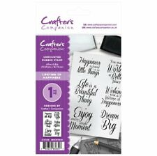 Crafters Companion A6 Unmounted Rubber Stamps LIFETIME of HAPPINESS CC-ST-LOH