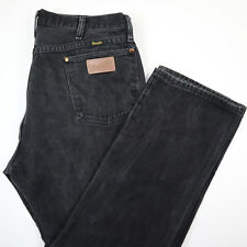 Vtg Nicely Faded Wrangler Jeans Mens actual sz 36 x 28 Black USA Made 13MWZ