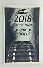 2018 Arctic Cat Snowmobile 6000/8000 Operator Manual