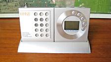 Ripple Digital FM Scan Radio Travel Alarm Clock Two Earphone Output