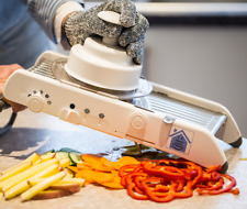 Kitchen Mandolin/Slicer - Professional quality, FREE safety gloves included