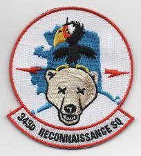 """USAF Patch 343rd RECONNAISSANCE SQUADRON, 4"""" Flight Suit Size"""