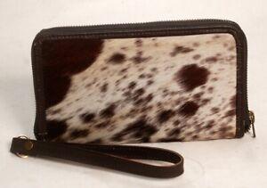 Cowhide Wallet for Women Zip Clutch Purse Clutch Wristlet Wallets  SA-414