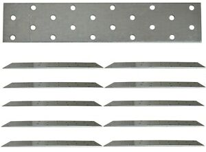 10 X Flat Joining Metal Plates Brackets For Wood Garden Sleepers l 200 x 40x 2mm