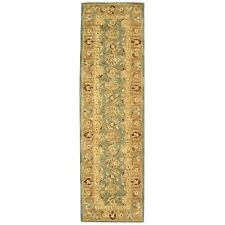 Anatolian Blue/ Brown Wool Carpet Area Rug Runner 2' 3 x 12'